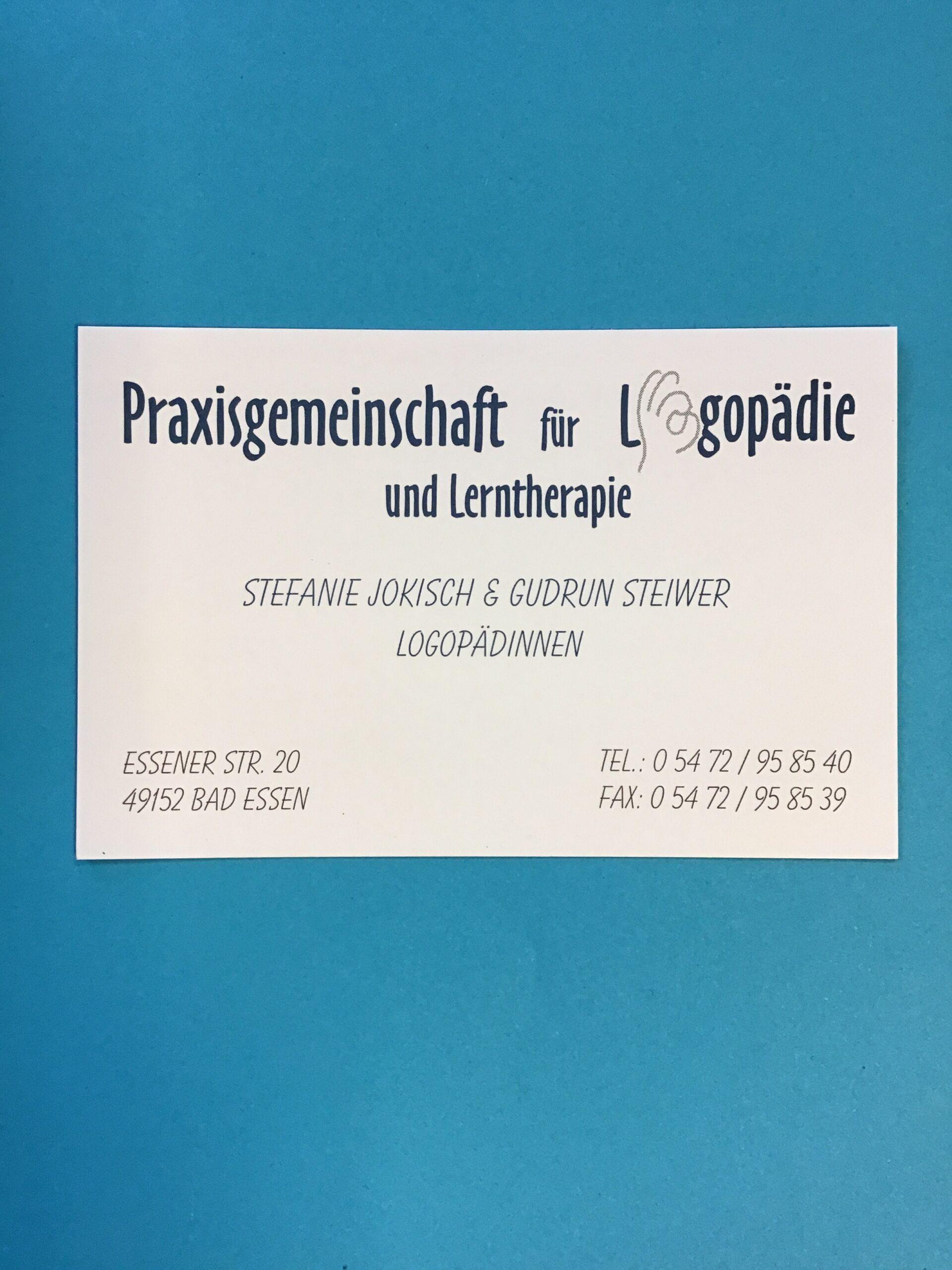 Praxisgemeinschaft für Logopädie Jokisch und Steiwer